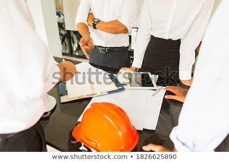 építész modell lakásügy üzlet papír épület Stock fotó © photography33