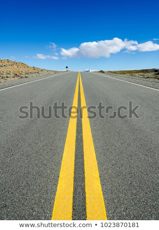 Closeup of road persective vanishing in infinite Stock photo © lunamarina