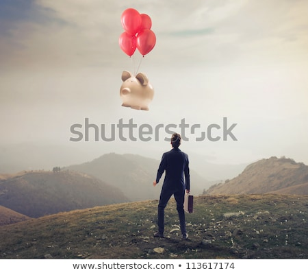 balloon flying away in the distance Stock photo © OleksandrO