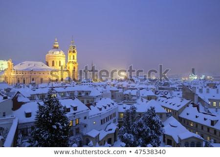 Prague - St Nicolaus Church Stock fotó © courtyardpix