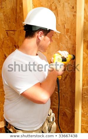Tradesman using a hammer Stock photo © photography33