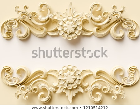 фантазий · Vintage · бабочка · декоративный · золото · черный - Сток-фото © olgaaltunina