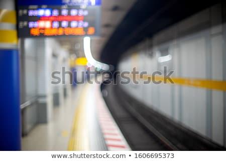 赤 · 鉄道 · 運動 · 駅 · 雲 · 金属 - ストックフォト © franky242