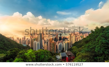 Hong · Kong · noite · edifício · cidade · paisagem · mar - foto stock © fazon1