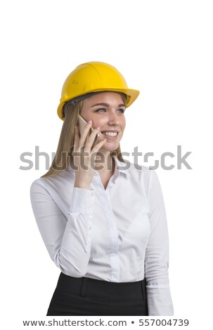 Attractive Female architect with a hardhat on phone  Stock photo © wavebreak_media
