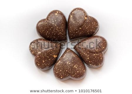Chocolade snoep handen vintage hand liefde Stockfoto © marimorena