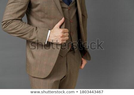 portré · komoly · irodai · dolgozó · tart · kabát · váll - stock fotó © wavebreak_media