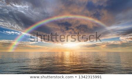 Stok fotoğraf: Gökkuşağı · okyanus · görüntü · büyük · bulut · su