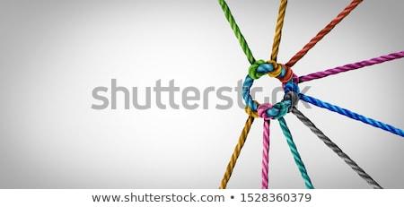 grupo · pessoas · de · negócios · corda · escritório - foto stock © 4designersart