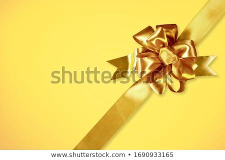 background with golden bow stock photo © illustrart