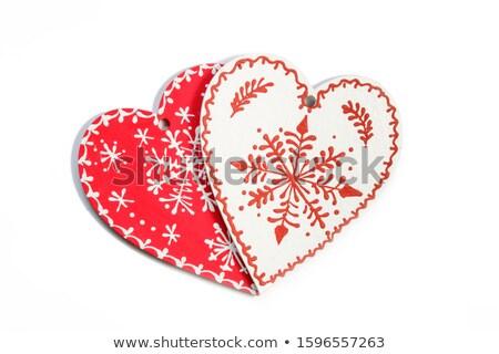 Two hanging heart ornaments Stock photo © wavebreak_media