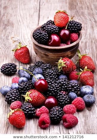 Cereza rojo frutas textura agua rosa Foto stock © lunamarina