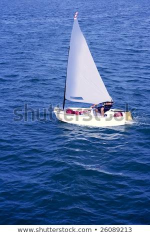 Optimist, recreation little sailboat regatta, Spain Stock photo © lunamarina