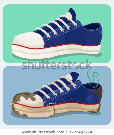old worn dirty shoes set isolated stock photo © vavlt