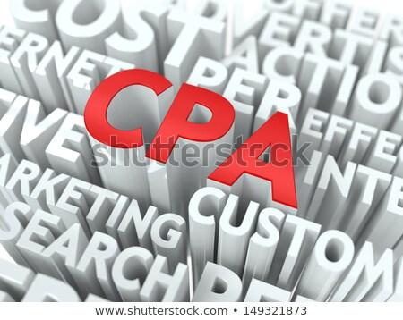 CPA. The Wordcloud Concept. Stock photo © tashatuvango