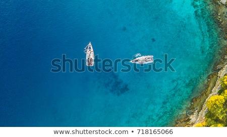 two boats on blue sea stock photo © anterovium