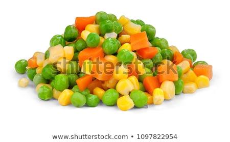 Congelés mixte légumes rouge santé plaque Photo stock © Fotaw
