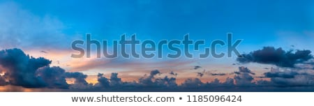 Beautiful cumulus clouds. High-resolution sky panorama Stock photo © pzaxe