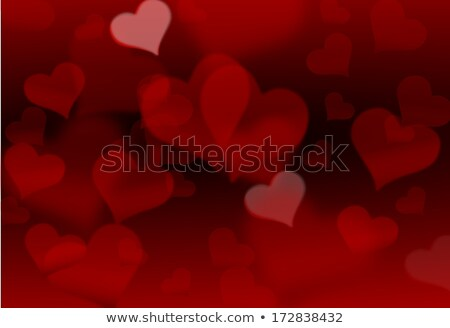 Ilustration made of shadow of hearts on the black background Stock photo © impresja26