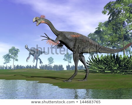 Two gigantoraptor Stock photo © mariephoto