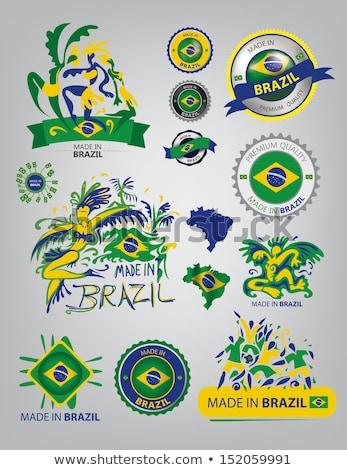 Brasil · ícone · cidade · construção · carimbo · cartão · postal - foto stock © cienpies
