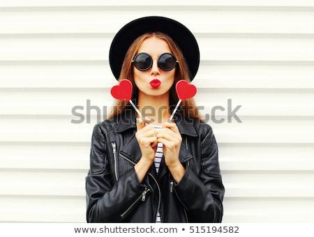 красивая · девушка · конфеты · красивой · женщину - Сток-фото © amok