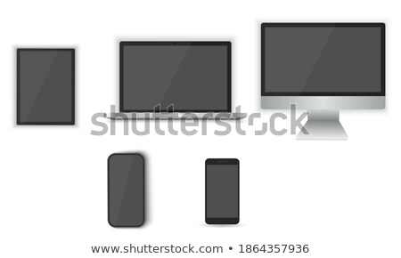 Modern responsive desktop computer vector - isolated on white Stock photo © MPFphotography