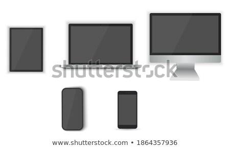 laptop · moderno · portátil · área · de · trabalho · dispositivo · preto - foto stock © mpfphotography