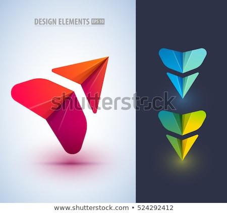 Conjunto colorido corporativo logotipo projeto Foto stock © shawlinmohd