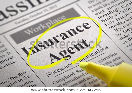 Stock photo: Insurance Agent Vacancy in Newspaper.