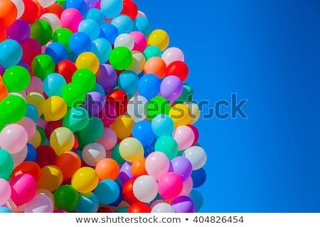 Multicolorido balões escuro blue sky céu festa Foto stock © Goruppa