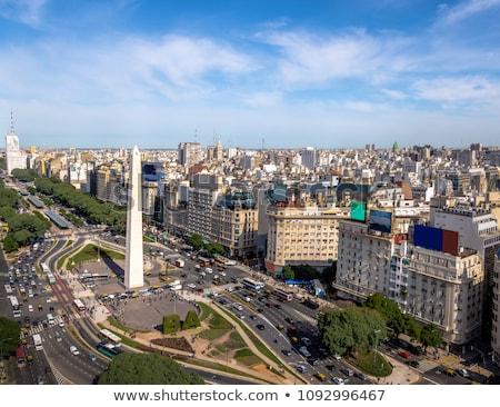 Buenos Aires városkép víz építkezés hajó építészet Stock fotó © compuinfoto