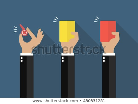 businessman with a red card Stock photo © ambro