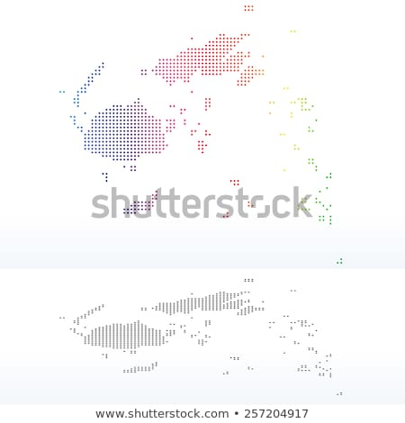 Térkép köztársaság Fidzsi-szigetek pont minta vektor Stock fotó © Istanbul2009