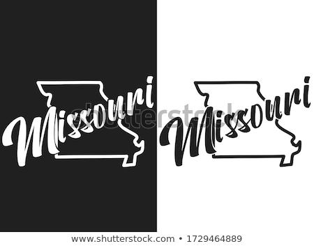 Missouri State map Stock photo © speedfighter