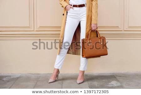 beige leather female belt Stock photo © RuslanOmega