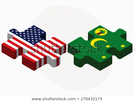 USA and Cocos (Keeling) Islands Flags in puzzle Stock photo © Istanbul2009