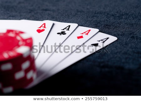 four aces high on green with chips stock photo © rob_stark