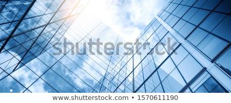 Cam kule gökdelen gökyüzü çok Stok fotoğraf © VisualCorruption