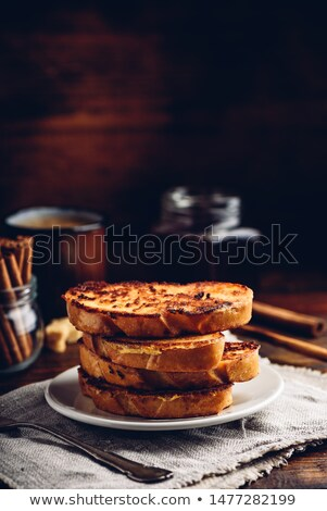 Plate of toasted buns and baguette Stock photo © ozgur