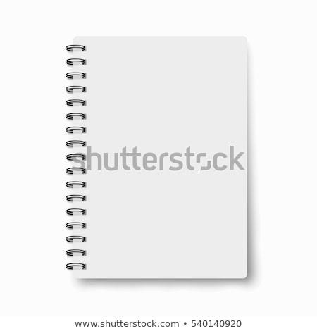Caneta spiralis caderno isolado branco escritório Foto stock © gavran333
