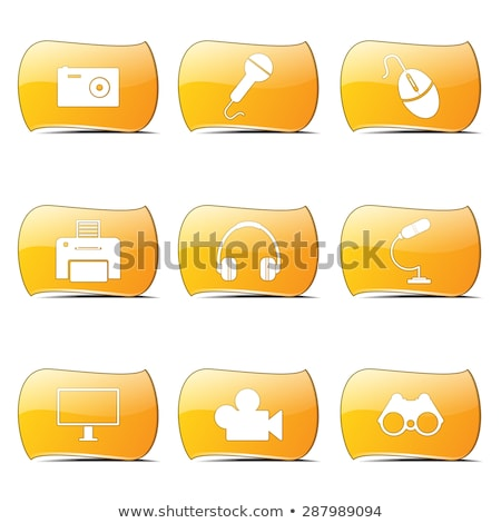 electronic equipment yellow vector buttonicon design set stock photo © rizwanali3d