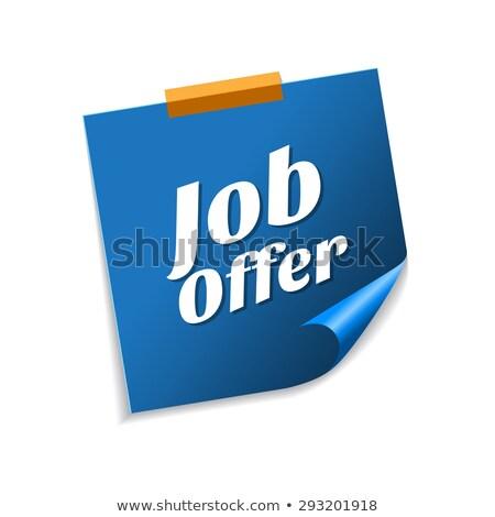 job offer blue sticky notes vector icon design stock photo © rizwanali3d