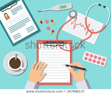 collection trendy flat medical icons stock photo © smeagorl