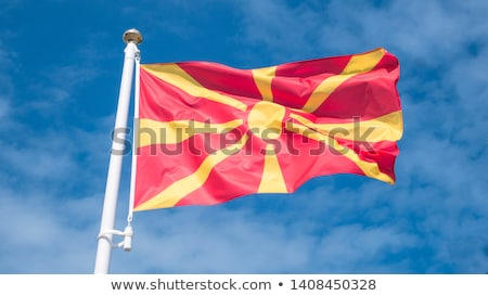 República Macedonia pequeño hombre 3d bandera Foto stock © Istanbul2009