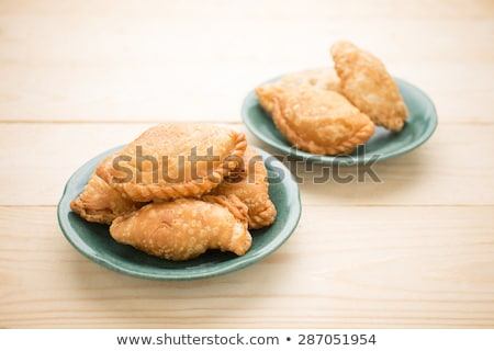 Curry puff stuffed with vegetable Stock photo © eddows_arunothai