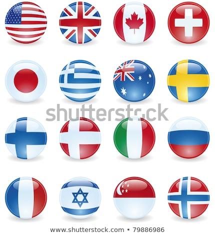 Canada Singapour drapeaux puzzle isolé blanche Photo stock © Istanbul2009