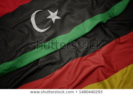 Germany and Libya Flags Stock photo © Istanbul2009