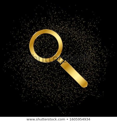 Yakınlaştırma altın vektör ikon dizayn altın Stok fotoğraf © rizwanali3d