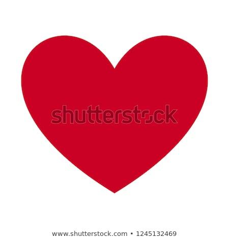 Valentin nap grafikus piros szív 3D szó Stock fotó © Irisangel